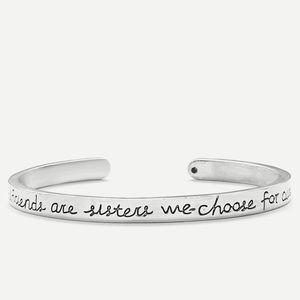 Jewelry - 🆕925 Silver Friendship cuff bracelet